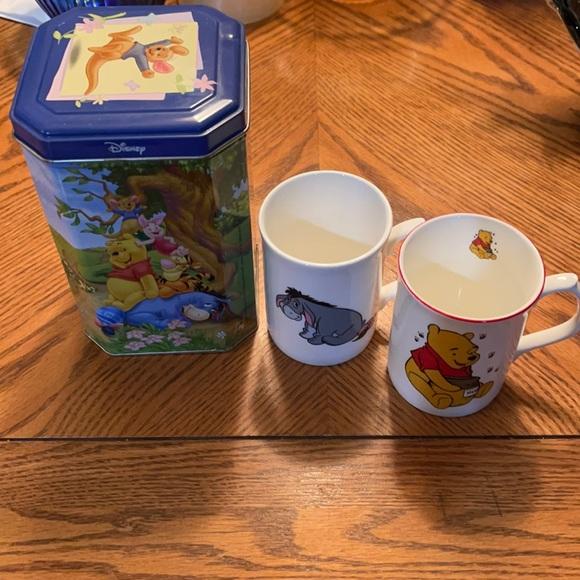 Vintage Eeyore and Winnie the Pooh China mugs